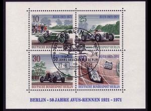 Block 3 AVUS-Rennen 1971 mit ESSt Berlin 27.8.1971
