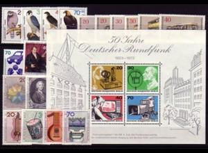 442-463 Berlin-Jahrgang 1973 komplett, postfrisch **