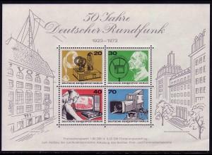 Block 4 Deutscher Rundfunk 1973, postfrisch