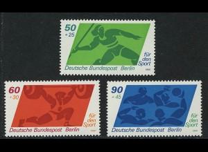 621-623 Sporthilfe Speerwerfen Gewichtheben Wasserball 1980, Satz **