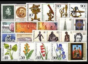 637-658 Berlin-Jahrgang 1981 komplett, postfrisch **