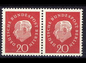184Pv Heuss - Platte/geriffelte Gummierung, Paar **