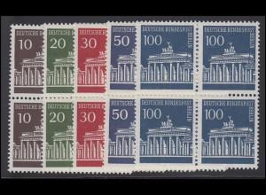 286-290 Brandenburger Tor, Viererblock-Satz **