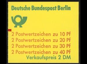 9a MH Unfall teilgezähnt 1974, mit Zählbalken, ** postfrisch