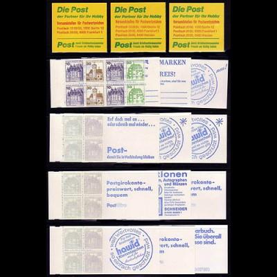 MH 11 a bis 11 p - 15 Deckelvarianten, Set postfrisch