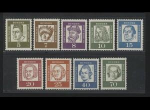 199 ff Bed. Deutsche 9 Werte komplett mit Zählnummer ** postfrisch