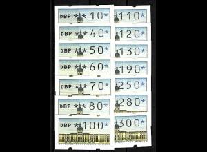 ATM Berlin, 14 Werte Versandstellen-Satz VS1, 10-300 Pf. postfrisch **