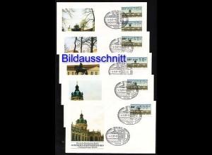 ATM Berlin, 14 Werte komplett 10-300, Satz auf FDC ESSt 4.5.1987