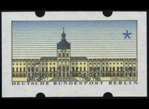 ATM Berlin, Kehrdruck v. SchWZD 5-Pf-Wertstufe mit Zählnummer, **