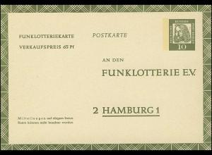Funklotterie FP 6 Dürer 10 Pf **