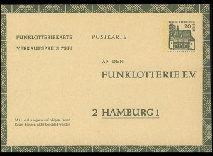 Funklotterie FP 8 Lorsch/Hessen 20 Pf **