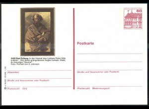 Bildpostkarte P 126a BuS 60 Pf Bad Drilburg: Peter Hille, Nummer p 16/221 **