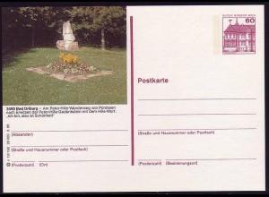 Bildpostkarte P 126g BuS 60 Pf Bad Driburg: Peter Hille, Nummer s 13/192 **