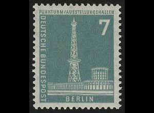 142wv geriffelt Stadtbilder Funkturm 7 Pf **