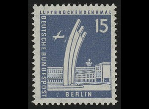 145wv geriffelt Stadtbilder Luftbrückendenkmal 15 Pf **