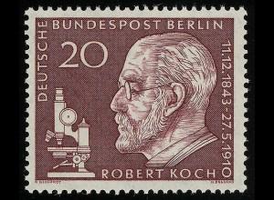 191y Robert Koch, geriffelte Gummierung **