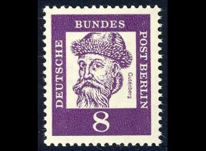 201 Bedeutende Deutsche 8 Pf Gutenberg **