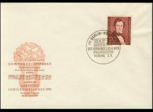 74 Albert Lortzing 1951 - amtlicher Ersttagsbrief FDC