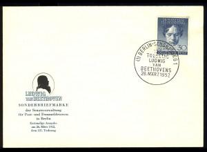 87 Ludwig van Beethoven 1952 - amtlicher FDC