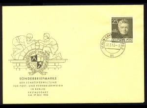 98 Männer Berlins 25 Pf. Karl Friedrich Schinkel - amtlicher FDC