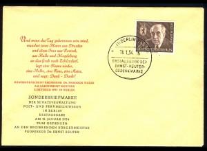 115 Ernst Reuter 1954 - amtlicher FDC