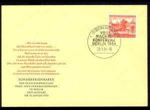 116 Viermächte-Konferenz 1954 - amtlicher FDC