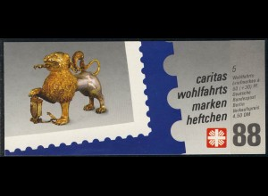 Caritas/Wofa 1988 Gold & Silber - Großer Gießlöwe 60 Pf 5x819, postfrisch