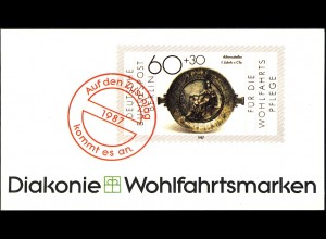 Diakonie/Wofa 1987 Gold & Silber - Athenaschale 60 Pf, 5x790, postfrisch