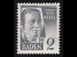Baden 1 Hebel 2 Pf. **