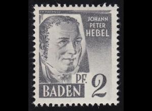 Baden 1yv I Hebel 2 Pf. **