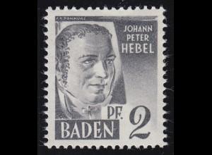 Baden 1yv II Hebel 2 Pf. **