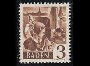 Baden 2 Trachtenmädchen 3 Pf. **