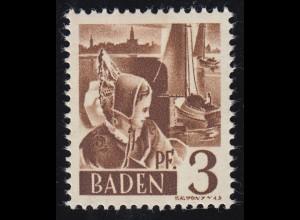 Baden 2yv I Trachtenmädchen 3 Pf. **
