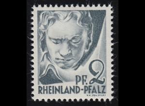 Rheinland-Pfalz 1 Freimarke 2 Pf. **
