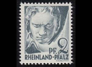 Rheinland-Pfalz 1yv II Freimarke 2 Pf. **