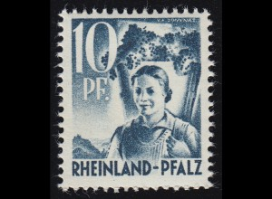 Rheinland-Pfalz 3yv II Freimarke 10 Pf. **
