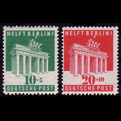 101-102 Brandenburger Tor / Berlin-Hilfe - Satz postfrisch **