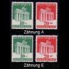 101-102 Brandenburger Tor in Zähnung A und E; zwei Sätze im Set, postfrisch **