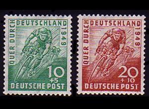 106-107 Radrennen 1949 - Satz, zwei Marken postfrisch **
