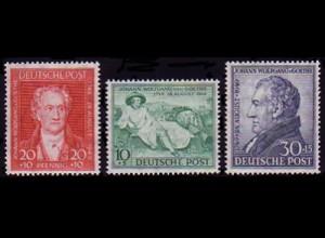 108-110 Goethe 1949 - kompletter Satz (3 Marken) postfrisch **