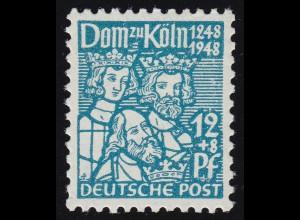 Bizone 70XB Kölner Dom 12 Pf. dunkeltürkisblau **
