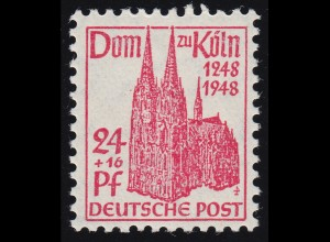 Bizone 71WA Kölner Dom 24 Pf. rotkarmin **