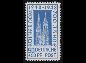 Bizone 72YA Kölner Dom 50 Pf. dunkelultramarin **