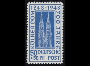 Bizone 72ZA Kölner Dom 50 Pf. dunkelultramarin **