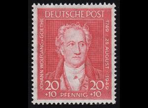 Bizone 109 Goethe 20 Pf. ** postfrisch