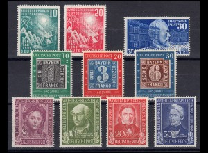 111-120 Bund-Jahrgang 1949 (10 Werte) komplett, postfrisch **