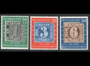 113-115 100 Jahre Briefmarken 1949, Satz postfrisch **