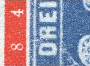114VI Briefmarken 20 Pf mit RETUSCHE des PLF V (weißer Fleck), Feld 26, **