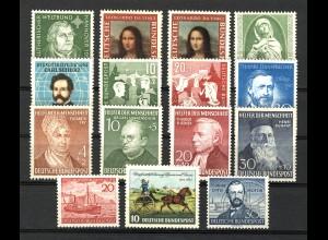 148-161 Bund-Jahrgang 1952 komplett, postfrisch **