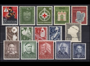 162-176 Bund-Jahrgang 1953 komplett, postfrisch ** / MNH